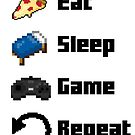 Essen, schlafen, Spiel, wiederhole! 8 Bit von kijkopdeklok