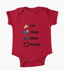 Eat, Sleep, Game, Repeat! 8bit Kids Clothes