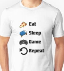 Eat, Sleep, Game, Repeat! 8bit Unisex T-Shirt