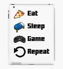Eat, Sleep, Game, Repeat! 8bit iPad Case/Skin