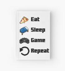Eat, Sleep, Game, Repeat! 8bit Hardcover Journal