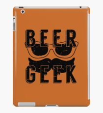 Beer Geek - Vintage Style Beer Poster iPad Case/Skin