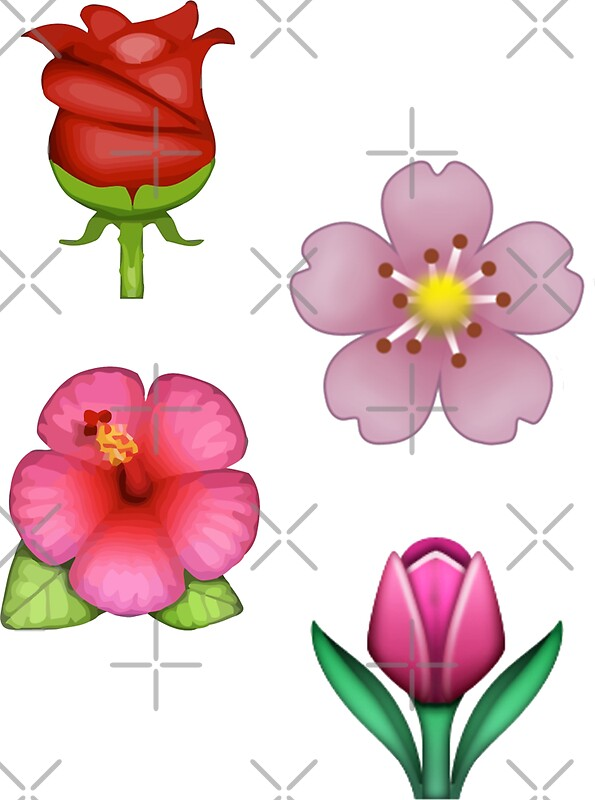 Flower emojis stickers by odinsxn redbubble flower emojis mightylinksfo Images
