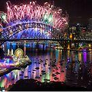 Sydney NYE Fireworks 2015 # 13 by Philip Johnson