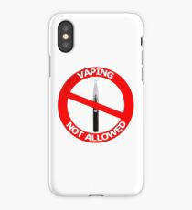 Vaping Not Allowed Sign iPhone Case/Skin