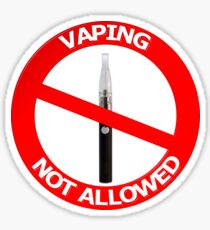 Vaping Not Allowed Sign Sticker