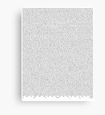 SILENT ALARM (black text) Canvas Print