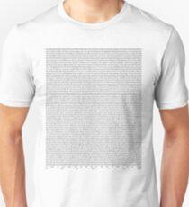 SILENT ALARM (black text) Unisex T-Shirt