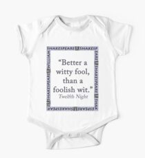 Better a Witty Fool - Shakespeare One Piece - Short Sleeve
