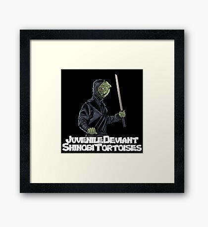 Juvenile Deviant Shinobi Tortoises Framed Print