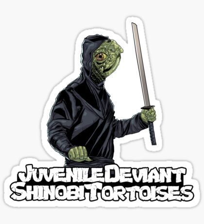 Juvenile Deviant Shinobi Tortoises Sticker