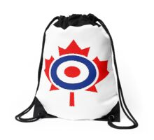 Canadian Maple Leaf Roundel Drawstring Bag
