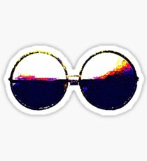 Round Janis Sunglasses Sticker