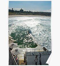 Bondi Beach icebergs Boxercise  Poster