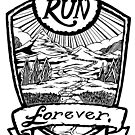 Run Forever - Black and white  by bangart
