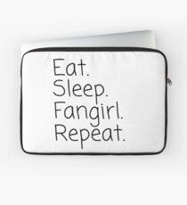 Eat.Sleep.Fangirl.Repeat. Laptop Sleeve