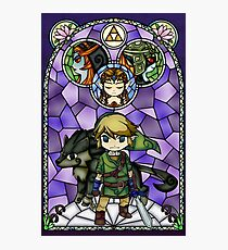 Twilight Princess Stained Glass, Purple Version Photographic Print