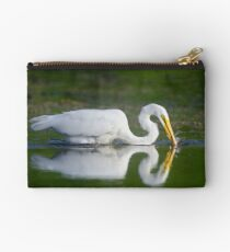 Great Egret Snagging Fish - Bird Photography Studio Pouch