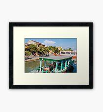 Hoi An Vietnam Tourist Boats Framed Print
