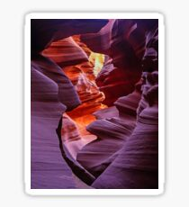 Light in the Slot, Lower Antelope Canyon, Page, Arizona USA Sticker
