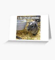 lolz Poopz Hamster Greeting Card