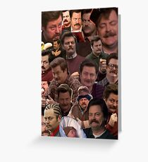 RON SWANSON'S FACES Greeting Card