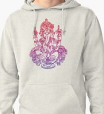 Ombre Indian Ganesh Elephant T-shirt Pullover Hoodie