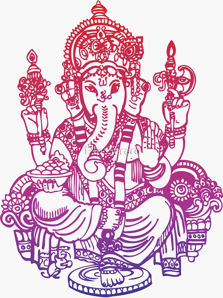 Camiseta Ombre Indian Ganesh Elephant de PipPipHooray