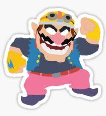 Simplistic Wario Super Smash Bros  Sticker