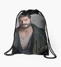 Jamie Dornan Handsome by ar Drawstring Bag