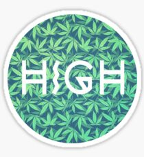 HIGH TYPO! Cannabis / Hemp / 420 / Marijuana  - Pattern Sticker