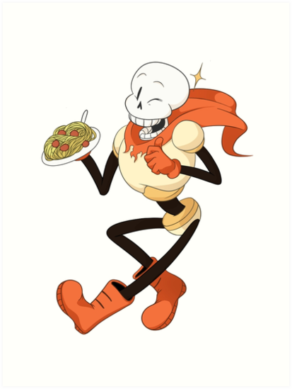 'Undertale - Papyrus' Art Print by dpfelix
