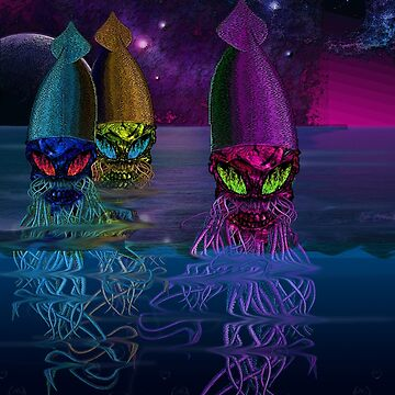 Rainbow Squid Skulls by AlexanderFox