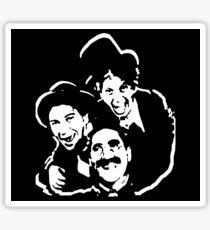 The Marx Brothers Attire  Sticker