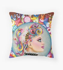 Lady Sweet Tooth Throw Pillow
