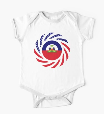 Haitian American Multinational Patriot Flag Series Kids Clothes