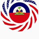 Haitian American Multinational Patriot Flag Series by Carbon-Fibre Media