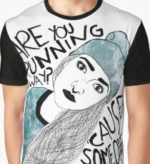 Running away child. Graphic T-Shirt