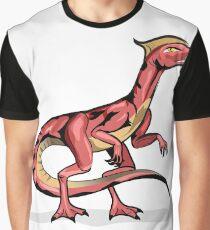 Illustration of Velociraptor. Graphic T-Shirt