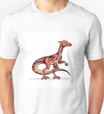 Illustration of Velociraptor. Unisex T-Shirt