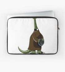 Illustration of a Plateosaurus dressed as a priest. Laptop Sleeve