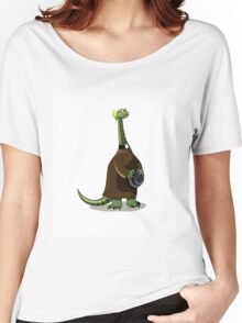 Illustration of a Plateosaurus dressed as a priest. Women's Relaxed Fit T-Shirt