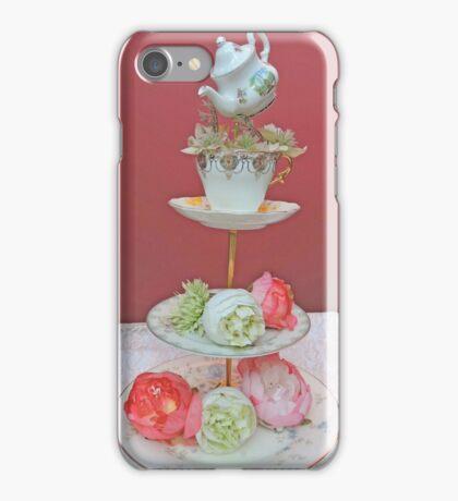 Tea & Peonies  iPhone Case/Skin