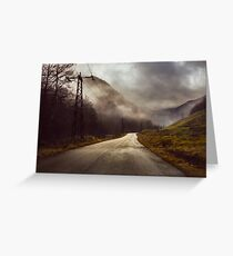 Foggy road Greeting Card