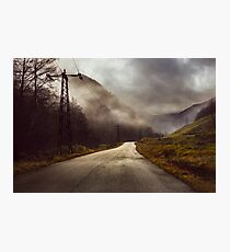 Foggy road Photographic Print