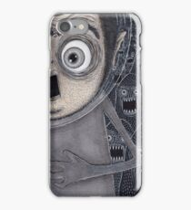 Allen Kazam Fleeing from Angry Sea Monsters iPhone Case/Skin
