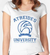 Atreides University | Blue Women's Fitted Scoop T-Shirt