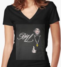 Big L Women's Fitted V-Neck T-Shirt