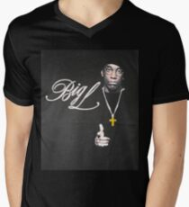 Big L Men's V-Neck T-Shirt