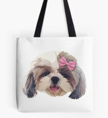 CUTE SHITZU DOG Tote Bag